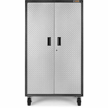 Gladiator Ready-to-Assemble 66 in. H Steel Rolling Garage Cabinet in Silver Tread Plate