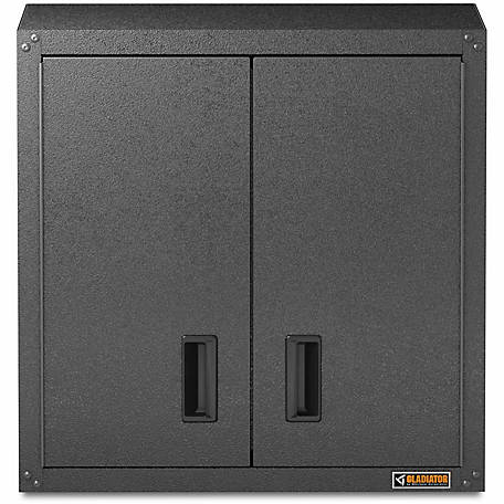Gladiator Ready-to-Assemble 28 in. H Steel Garage Wall Cabinet in Hammered Granite