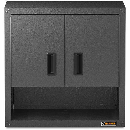Gladiator Ready-to-Assemble 28 in. H Steel Garage Wall Cabinet with Shelf in Hammered Granite