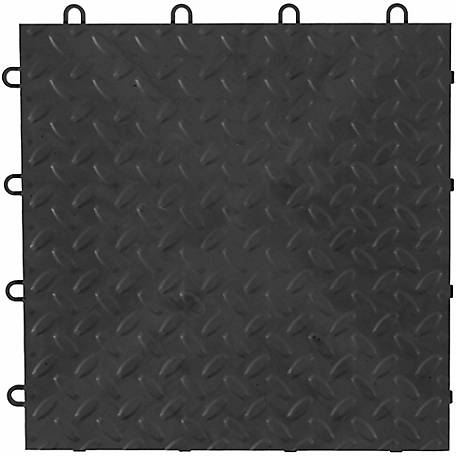 Gladiator Charcoal Floor Tiles, Pack of 4