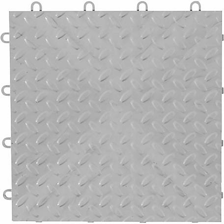 Gladiator Silver Floor Tiles, Pack of 4