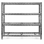 Gladiator 4-Shelf 72 in. H x 77 in. W x 24 in. D Welded Steel Garage Shelving Unit