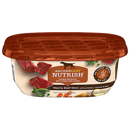 Rachael Ray Nutrish Grain Free Hearty Beef Stew Natural Wet Dog Food, 8 oz. Tub