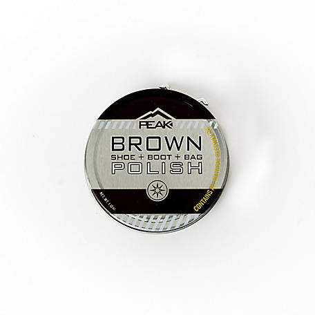 PEAK Large Brown Tin Polish, 103-409