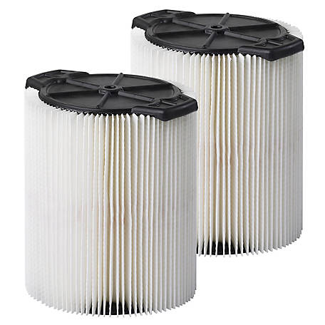 Multi-Fit Wet/Dry Vacuum Filters VF7816TP Standard Wet/Dry Vacuum Filters, Pack of 2