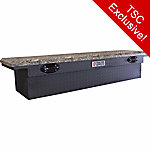 Tractor Supply Full-size SEC Camo Lid Crossover Tool Box, Matte Black
