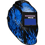 Metal Man Auto Darkening Welding Helmet w/ Blue Skull Graphic