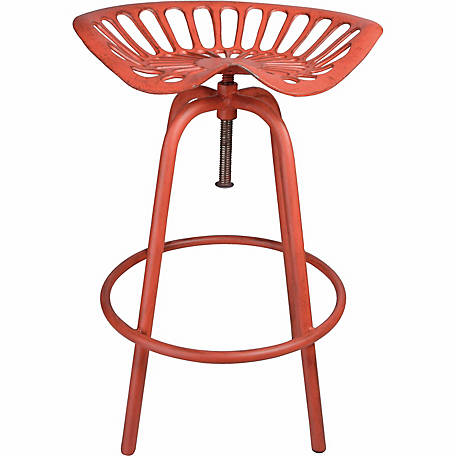Tractor Seat Stool, Red