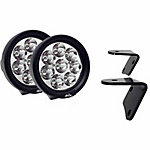 Lazer Star Lights 4 in. Endeavour 3W Round Jeep Kit A-Pillar Windshield Bracket