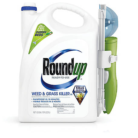 Roundup Ready-To-Use Weed & Grass Killer III Sure Shot Wand, 1.33 gal., 5200510