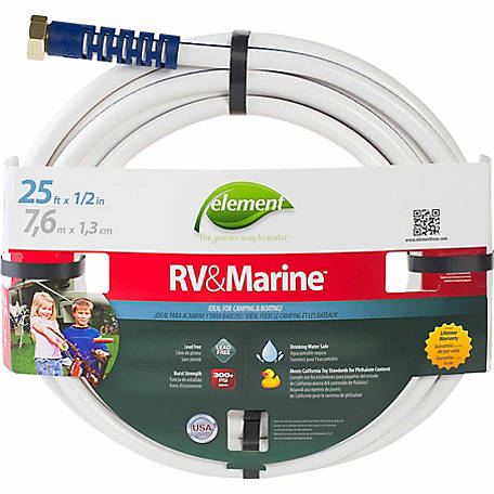 Element 25 ft. x 1/2 in. RV & Marine Drinking Water Hose, CELMRV12025