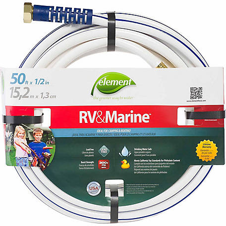 Element 50 ft. x 1/2 in. RV & Marine Drinking Water Hose, CELMRV12050