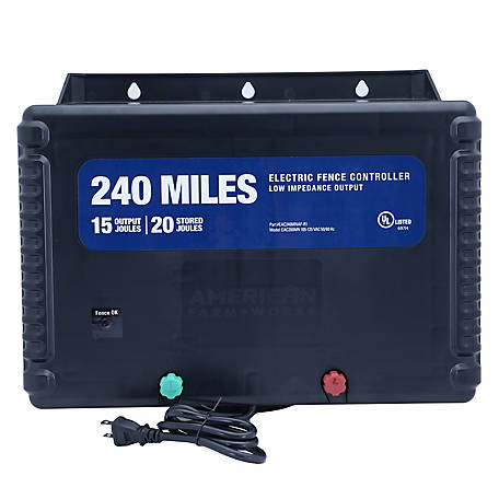 American FarmWorks 240-Mile AC Powered Low Impedance Charger, EAC240M-AFW