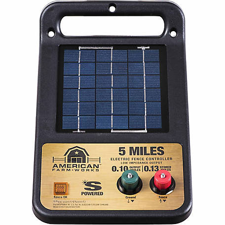 American FarmWorks 5-Mile Solar Low Impedance Charger, ESP5M-AFW