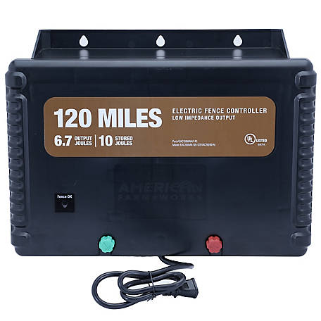 American FarmWorks 120-Mile AC Powered Low Impedance Charger, EAC120M-AFW