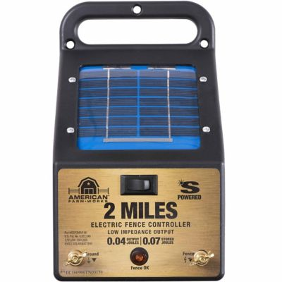 american farmworks 2mile solar fence low impedance charger