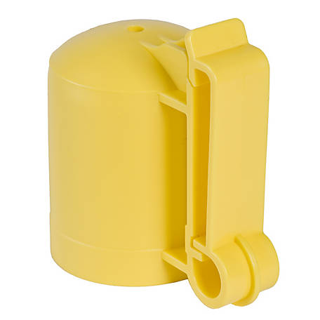 American FarmWorks Yellow T-Post Safety Cap and Insulators