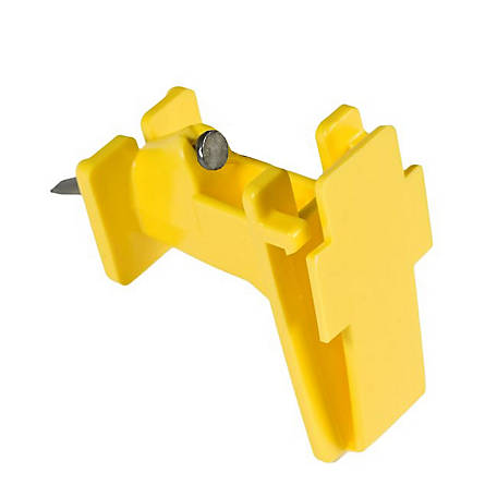American FarmWorks Yellow Poly Tape Wood Post Insulators