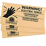American FarmWorks Electric Fence Warning Sign, Pack of 3, AWS-AFW