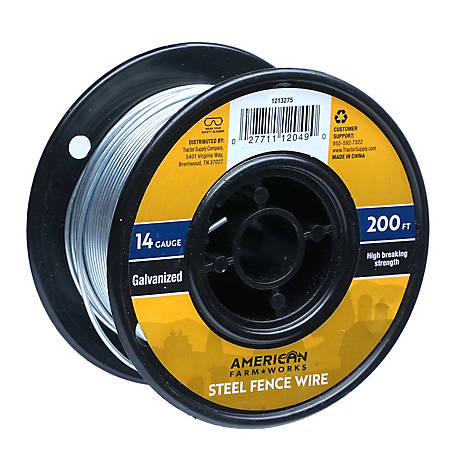American FarmWorks 14-Gauge Galvanized Steel Wire, 200 ft.