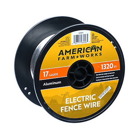 American FarmWorks 17-ga. Aluminum Wire, 1/4 Mile, AW17G1320-AFW