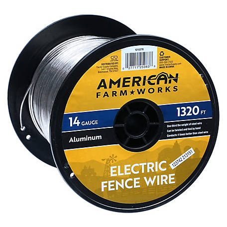 American FarmWorks 14-Gauge Aluminum Wire, 1/4 Mile, AW14G1320-AFW