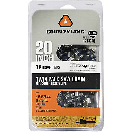 CountyLine 20 in. Saw Chain, Two Pack