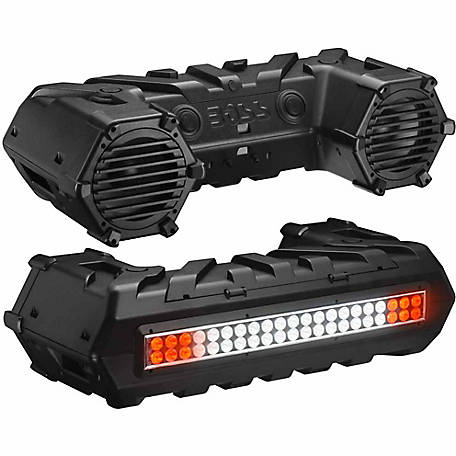 BOSS AUDIO Powersports Plug & Play Bluetooth Sound System w/ 700W Built-in A and LED Light Bar