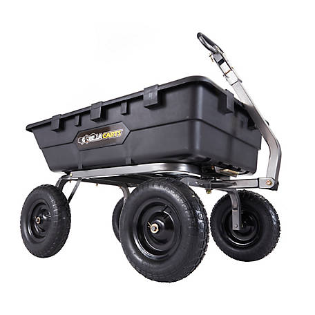 Gorilla Gorilla 1,500 lb. Capacity Super Heavy-Duty Poly Dump Cart with 10 Cu. ft. Bed, GOR10-16
