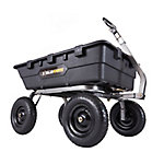 Gorilla Carts 10 cu. ft. Heavy-Duty Poly Dump Cart