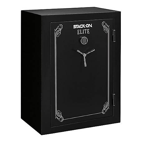 Stack-On Elite 69 Gun Fire Resistant Safe, Black