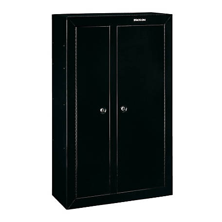Stack-On 2-Door 10 Gun Security Cabinet, Black