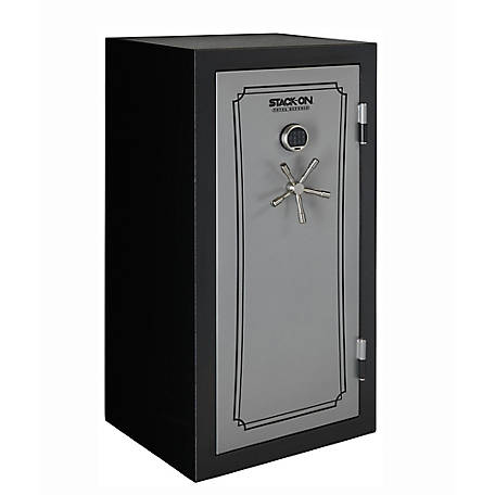 Stack-On Total Defense 40 Gun Fire Resistant/Waterproof Safe, Silver/Black, TD-40-SB-E-S