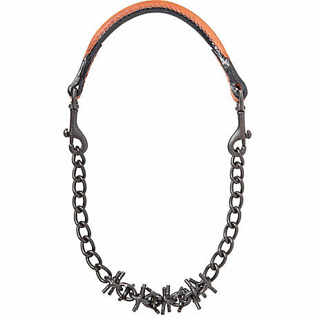 Weaver Leather Livestock Oil-Rubbed Pronged Chain Goat Collar