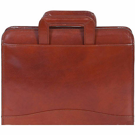 Scully Leather Genuine Leather 3-Ring Zip Binder with Drop Handles, 96Z-06-28-F