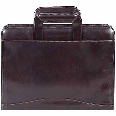 Scully Leather Genuine Leather 3-Ring Zip Binder with Drop Handles, 96Z-06-29-F