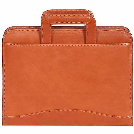 Scully Leather Genuine Leather 3-Ring Zip Binder with Drop Handles, 96Z-06-40-F