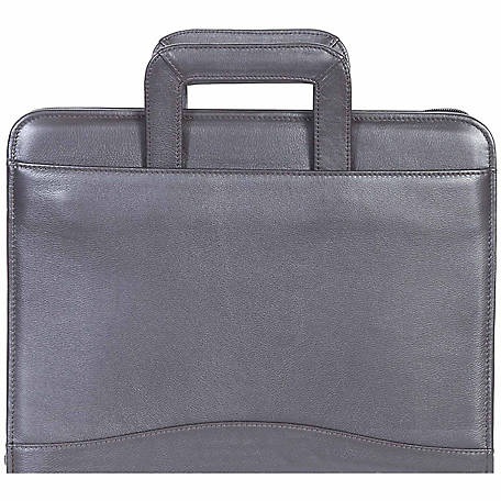 Scully Leather Genuine Leather 3-Ring Zip Binder with Drop Handles, 96Z-11-25-F