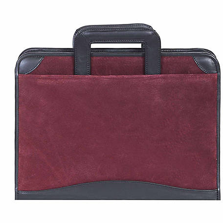 Scully Leather Genuine Leather 3-Ring Zip Binder with Drop Handles, 96Z-19-22-F