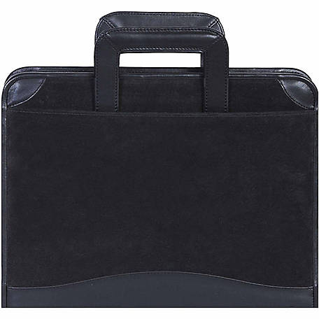 Scully Leather Genuine Leather 3-Ring Zip Binder with Drop Handles, 96Z-19-24-F