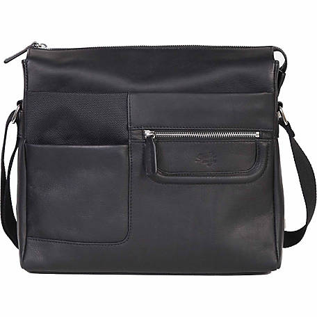 Scully Leather Leather & Nylon Tablet Briefcase