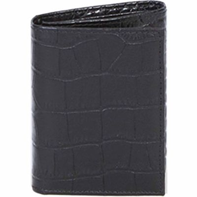 Buy Scully Leather Genuine Leather Tri-Fold Wallet with ID Window; 2000W-0-43-F Online