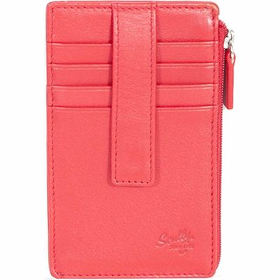 Buy Scully Leather Ladies Genuine Leather Tab Card Holder And Zip Pouch Online