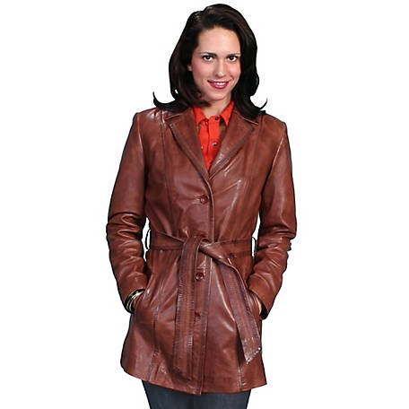 Scully Leather Classic Style Knee Length Coat