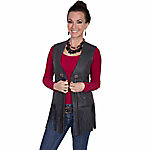 Scully Leather Women's Long Fringe Leather Vest