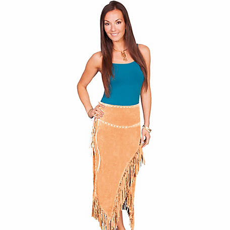 Scully Leather Women's Long Suede Fringe Skirt
