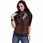 Honey Creek Women's Lightweight Faux Shearling Vest