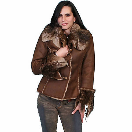 Honey Creek Women's Soft & Luxurious Faux Fur Jacket