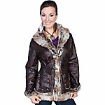 Honey Creek Women's Mottled Faux Shearling Jacket