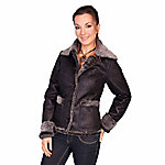 Honey Creek Women's Fashionable Faux Fur Jacket